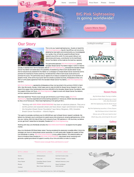 BIG Pink Bus Tour
